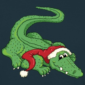 The crocodile and the Santa Claus T-shirts - T-shirt herr