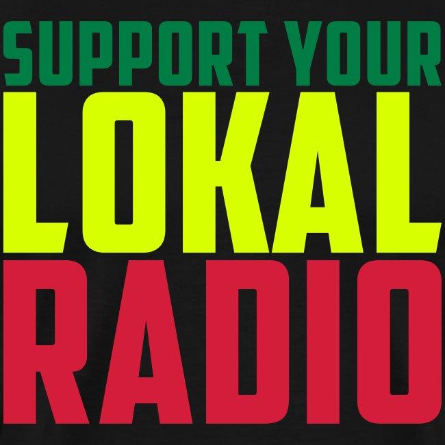 Tshirt MC Men Support Your Lokal Radio