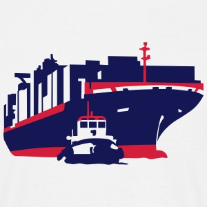 container ship T-shirts - Mannen T-shirt