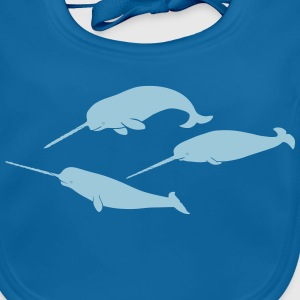whale whales narwal narwhale unicorn scuba diving Accessories - Baby Organic Bib