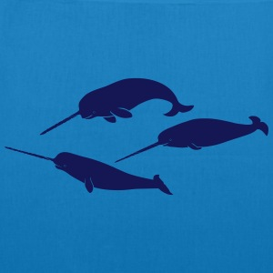 whale whales narwal narwhale unicorn scuba diving Bags & backpacks - EarthPositive Tote Bag