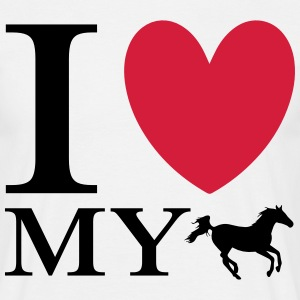 Love My Horse T-Shirts - Men's T-Shirt