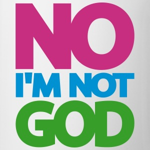 NO I'm not GOD, www.eushirt.com Flessen & bekers - Mok