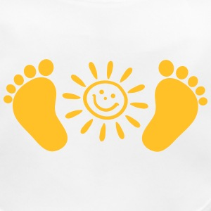 Baby feet, sun, baby, gift, birth, Foot, mom, dad, Accessories - Baby Organic Bib