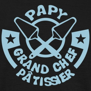 papy chef patissier logo pelle tarte Tee shirts - T-shirt Homme
