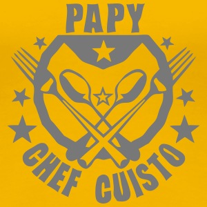 papy super cuisto logo fourchette cuille Tee shirts - T-shirt Premium Femme