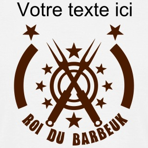ajoute texte roi barbeuk barbecue logo Tee shirts - T-shirt Homme