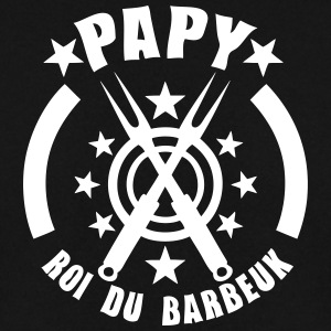 papy roi barbeuk barbecue logo Sweat-shirts - Sweat-shirt Homme