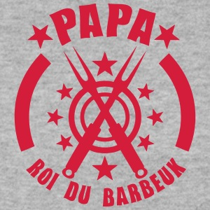 papa roi barbeuk barbecue logo Sweat-shirts - Sweat-shirt Homme