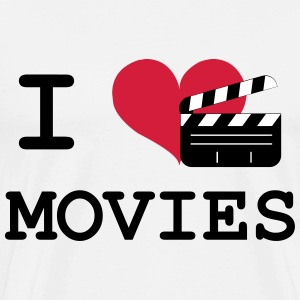 I Love Movies T-shirts - Mannen Premium T-shirt