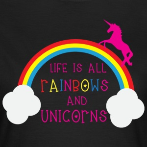 Rainbows & Unicorns T-shirts - Dame-T-shirt