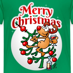 A reindeer in a Christmas tree - Merry Christmas Shirts - Kids' Premium T-Shirt