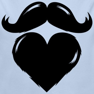 I love my beard and moustache Sweaters - Baby bio-rompertje met lange mouwen