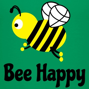 bee happy cute bee bee lykkelig søte bee Skjorter - Premium T-skjorte for barn
