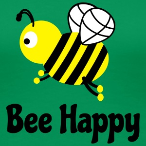 bee happy cute bee bee glad söt bee T-shirts - Premium-T-shirt dam