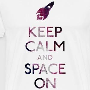 Keep Calm and Space on houden van rust en ruimte op T-shirts - Mannen Premium T-shirt