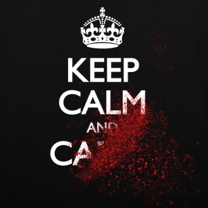 keep calm and carry on blood spatter zombie garder son calme et continuer sur zombie éclaboussure de sang Sacs et sacs à dos - Tote Bag