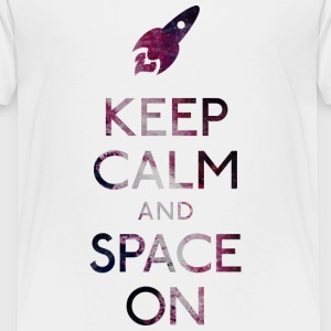 Keep Calm and Space on Shirts - Kids' Premium T-Shirt