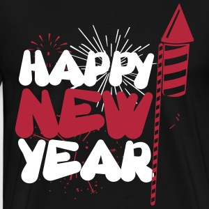 Happy new year T-shirts - Herre premium T-shirt