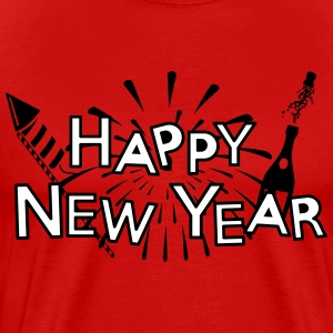 Happy new year T-skjorter - Premium T-skjorte for menn