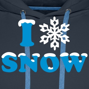Winter, Snow, Snowflake, Snow, Sports Hoodies & Sweatshirts - Men's Premium Hoodie