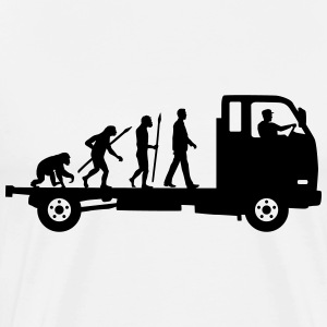 evolution_of_man_trucker_112013_a_1c T-Shirts - Männer Premium T-Shirt