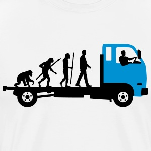 evolution_of_man_trucker_112013_a_2c T-Shirts - Männer Premium T-Shirt