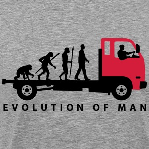 evolution_of_man_trucker_112013_b_2c T-Shirts - Männer Premium T-Shirt