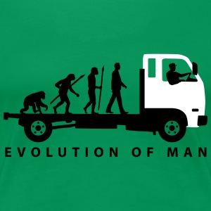 evolution_of_man_trucker_112013_b_2c T-Shirts - Frauen Premium T-Shirt