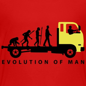 evolution_of_man_trucker_112013_b_2c T-Shirts - Teenager Premium T-Shirt
