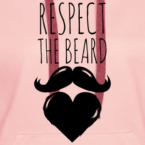 funny I love respect the beard and moustache joke Sweaters - Vrouwen Premium hoodie