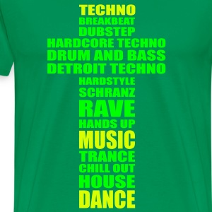 Techno Religion * Dubstep Drum and Bass Rave Raver - Männer Premium T-Shirt