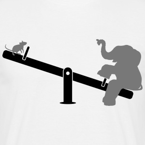 Rocker olifant  T-shirts - Mannen T-shirt