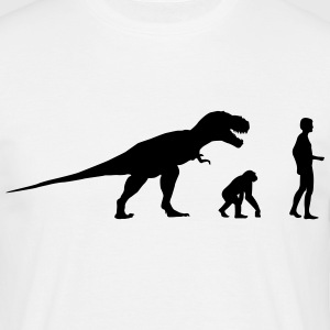 Evolution dinosaur Rex  T-shirts - Herre-T-shirt