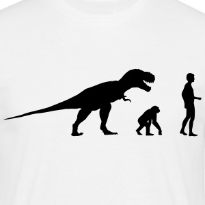 Evolution dinosaur Rex  T-skjorter - T-skjorte for menn