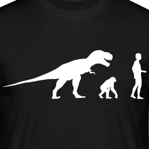 Evolution dinosaur Rex  T-Shirts - Men's T-Shirt