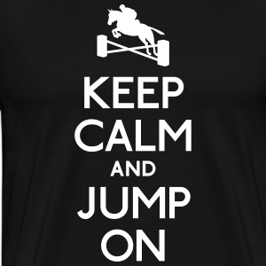 keep calm and jump on holde ro og hoppe på T-skjorter - Premium T-skjorte for menn