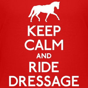 Keep Calm and Ride Dressage bevare roen og ride dressur T-shirts - Børne premium T-shirt
