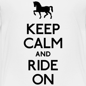 keep calm and ride on Shirts - Kids' Premium T-Shirt