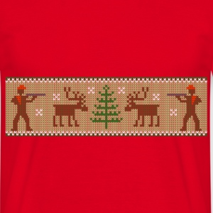 xmas_deer_hunter T-Shirts - Men's T-Shirt