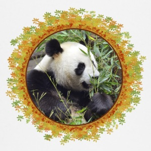 Giant panda in frame of leaves - T-shirt manches longues Bébé
