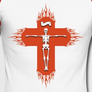 Christian cross flaming Long sleeve shirts - Men's Long Sleeve Baseball T-Shirt