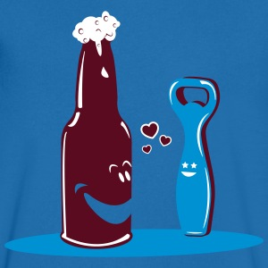 BEER ROMANCE Tee shirts - T-shirt Homme col V