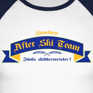 schwedische_after_ski_team Skjorter med lange armer - Langermet baseball-skjorte for menn