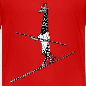 Giraffe Tightrope Walker T-Shirts - Teenager Premium T-Shirt