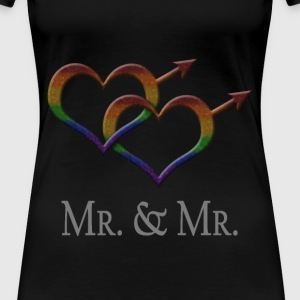 Mr. and Mr. - Gay Pride - Marriage Equality T-Shirts - Women's Premium T-Shirt