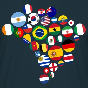 Nations Brasilien 2014  T-shirts - Herre-T-shirt