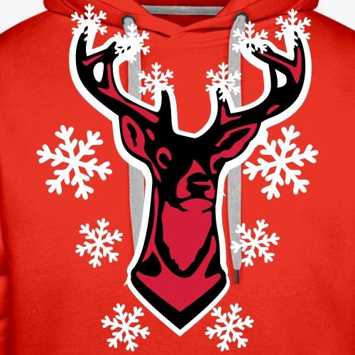 17 Hirsch Elch Rudolph Deer 3c Schneeflocken