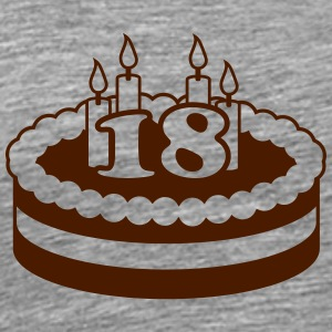 18 Happy Birthday Cake Tee shirts - T-shirt Premium Homme