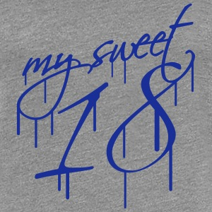My Sweet 18 Graffiti Design T-Shirts - Frauen Premium T-Shirt